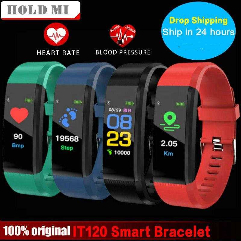 Pulsera inteligente mantener Mi IT120 VS ID115 más deportes Color pantalla Smart banda Monitor de ritmo cardíaco Fitness Tracker para IOS android