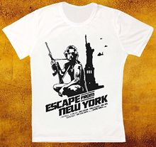 ESCAPE FROM NEW YORK 80s SCI FI MOVIE FILM COOL RETRO HIPSTER UNISEX T SHIRT Men T-Shirt Free Shipping Top Tee Plus Size