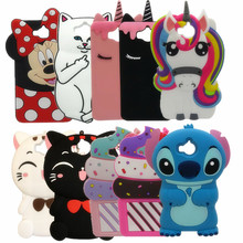 For Huawei Y6 2017 Hot 3D Cartoon minnie Pig Unicorn Cupcake Silicon Soft Cover Case for Huawei Y6 2017 5.0″ Phone Back case