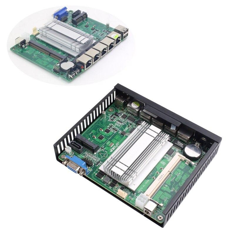 Image 5 - XCY Mini PC Celeron J1900 J1800 Intel i211AT NIC 4*Gigabit LAN RJ45 Consel 2*USB VGA Soft Router Firewall run Pfsense Sophos-in Mini PC from Computer & Office