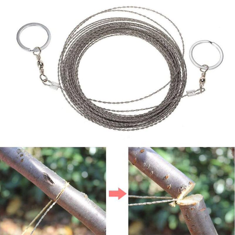 Hand Chain Saw Outdoor Survival Wire Saw Stainless Safety Fretsaw Emergency Survival Tool Camping Fishing Hunting Pocket Gear