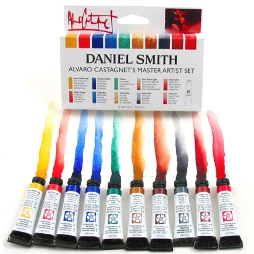 Fondo de acuarela Mineral de 6 colores de American Daniel Smith, 6 colores de alvara, 10 colores de acuarelas, juego de acuarelas de 5ml