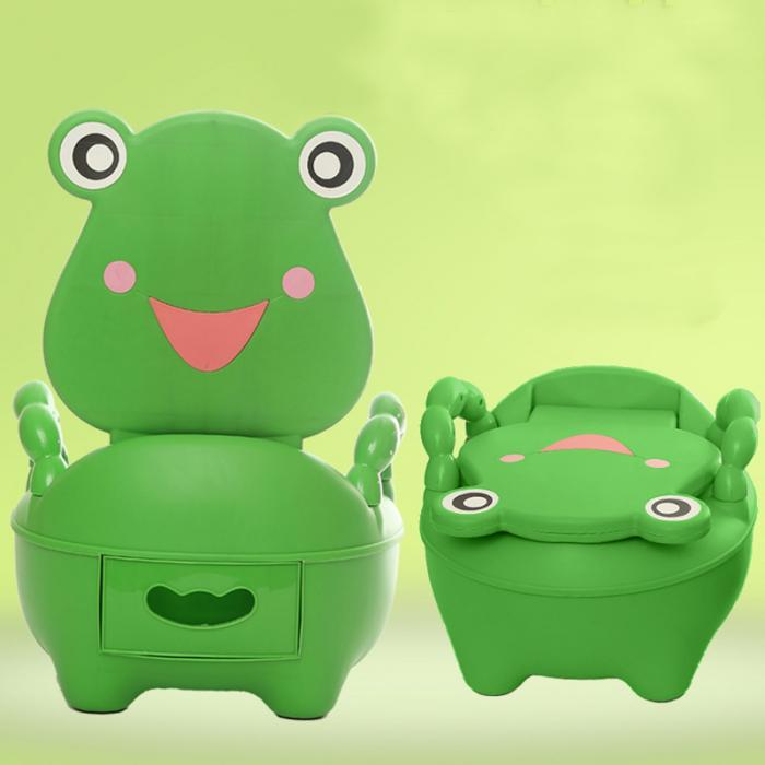 frog potty chair round bamboo cushion portable cartoon baby toilet girls boy seat folding cute drawer training fj88