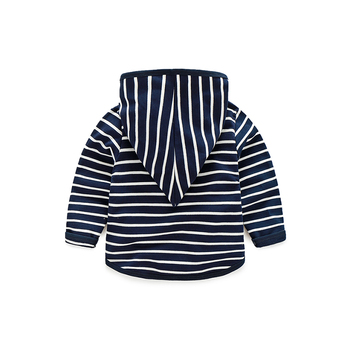 Hoodies Kids Boys 2017 Spring Autumn Fashion Striped Boys Jacket Coat Long Sleeve Tops Simple Casual Baby Boy Clothes 4193Z