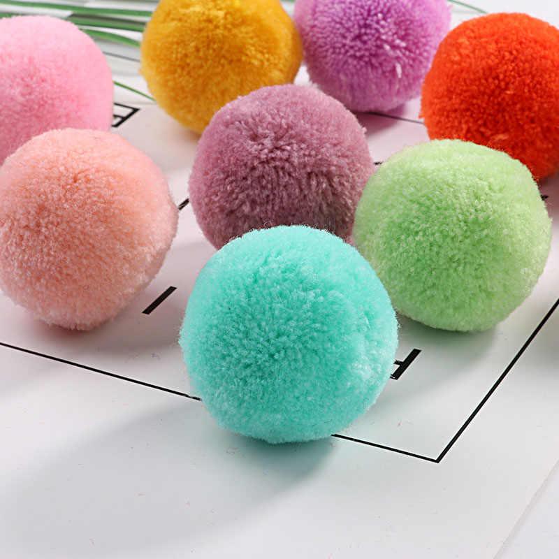 ขนาด POM 15 มม.20 มม.30 มม.40 มม.Pompones ปุยปุยหัตถกรรม DIY POM Poms Ball furball ตกแต่งบ้านผ้าพันคออุปกรณ์เย็บผ้า