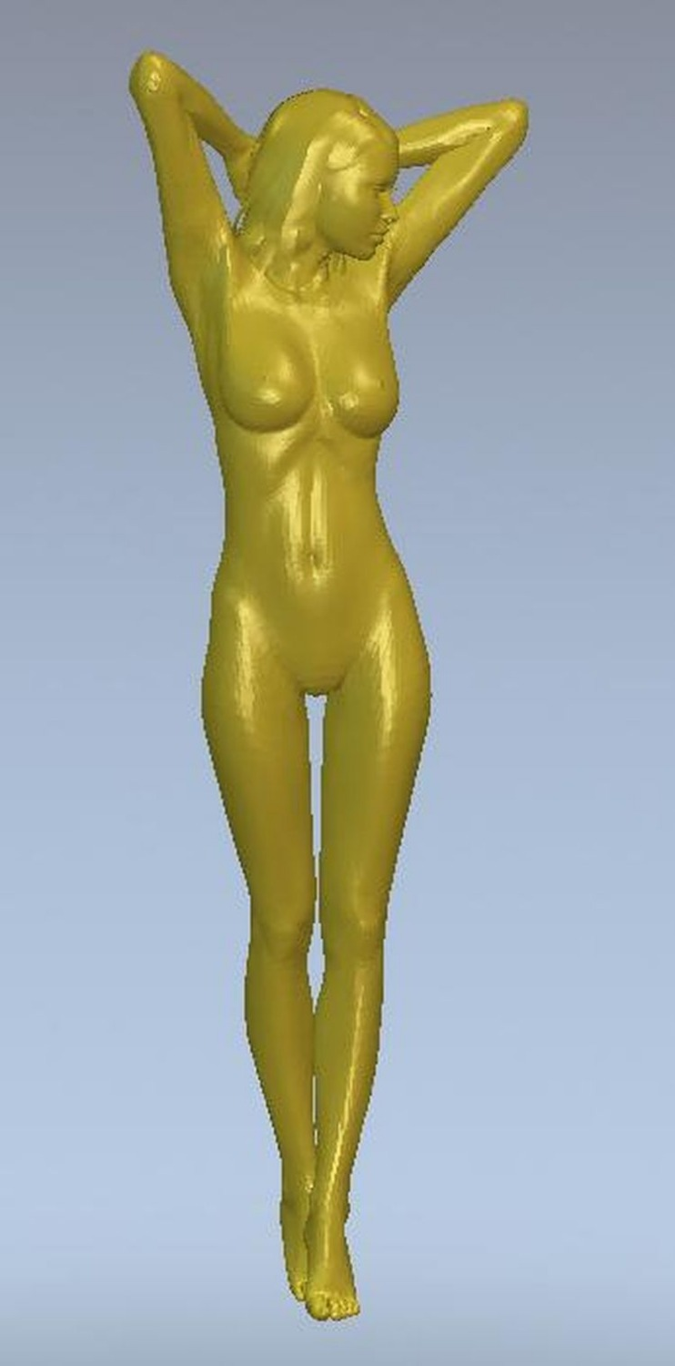 3d model relief for cnc or 3D printers in STL file format skinny girl--3 cnc panno face 1 in stl file format 3d model relief for