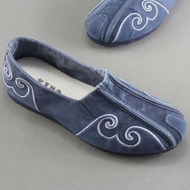 765f84387 Primavera dos homens Homens Sapatos Casuais Sapatos de Pano Respirável Moda masculina  sapatos Velhos Pequim Pano