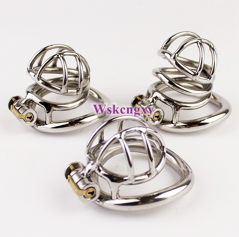 Buy Arc-Shaped Cock Ring Stealth Lock Chastity Cage Stainless Steel Male Chastity Device Sex Toys Men Penis Lock 3 Model Choose