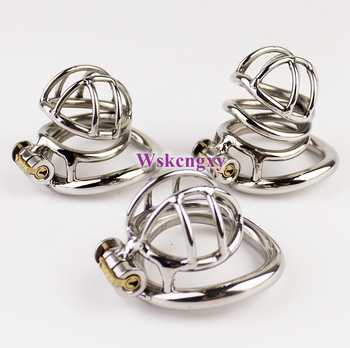 Arc-Shaped Cock Ring Stealth Lock Chastity Cage Stainless Steel Male Chastity Device Sex Toys For Men Penis Lock 3 Model Choose - DISCOUNT ITEM  10% OFF All Category