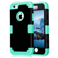 Case Covers On For IPhone 5 5S SE Shockproof Protect Case Hybrid Hard Rubber Impact Skin