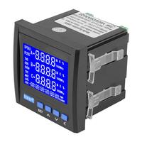 Multifunction 3 Phase Electric Current Voltage Frequency Power Energy Meter VA Hz kWh RS485