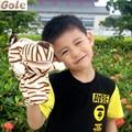 Brinquedo Menino Marionetas Animales Del Dedo Títeres ventrílocuo Tigre Chino Juegos Para Niños Zoo Animales de Peluche Juguetes de Toy Story