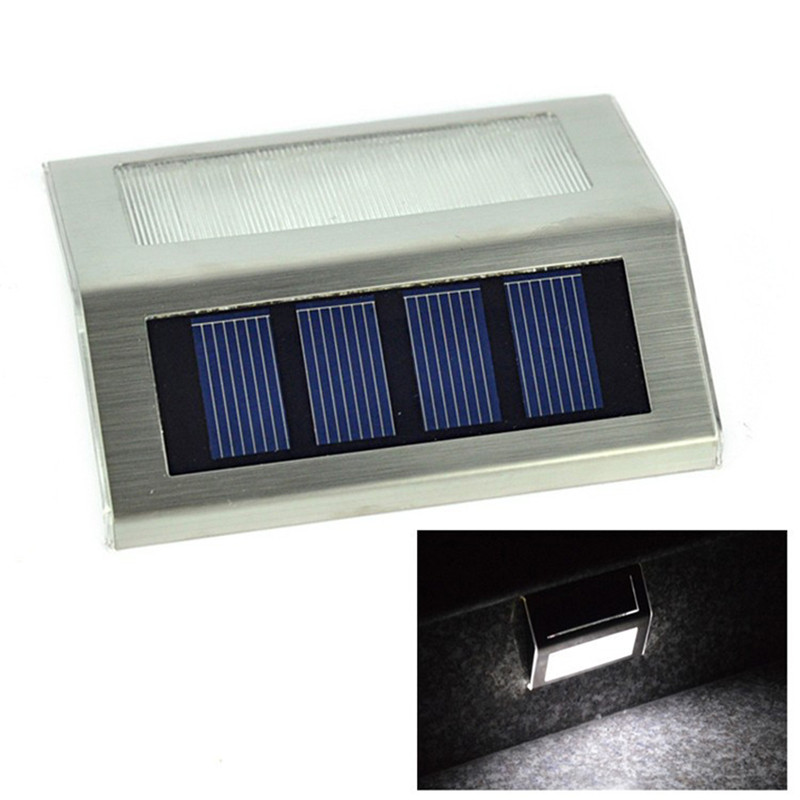 Led Solar Outdoor Light ABS/Stainless Steel Solar Power Waterproof Garden Pathway Stairs Solar Lamp For Corridor Wall Lighting