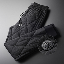 Minglu ฤดูหนาวกางเกงผู้ชายหรูหราเพิ่ม Padding หนาอุ่นกางเกง PLUS ขนาด 4XL แฟชั่น Elastic เอวฤดูใบไม้ร่วงกางเกง