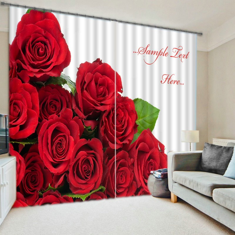 Rouge et rose rose luxe occultant 3D Rideaux de fenêtre pour salon chambre Rideaux cortinas Rideaux décoration de mariage