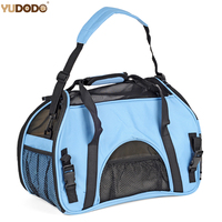 6 Colors Mesh Breathable Puppy Dog Cat Carrier Portable Folding Small Pet Outdoor Single Shoulder Slings Travel Carrying Handbag