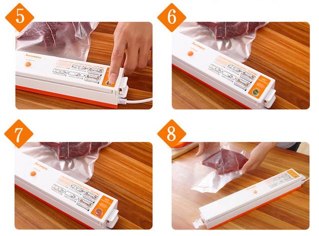 2016 100W Portable Household Food Vacuum Sealer Packaging Machine Electric Film Food Sealer Vacuum Packer With 15Pcs Bags Free
