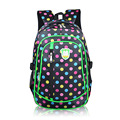 Large capacity schoolbags for girls Korean fashion dot students backpack lightweight wearable school bags free shipping