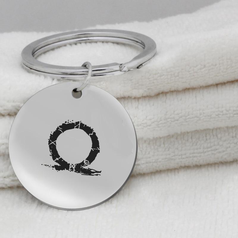 viking circle pendant print FPS Game Fortnite pendant stainless steel Jewelry Key Holder K078 Ufine