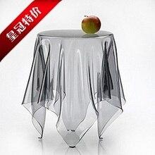 Мягкая стеклянная скатерть, прозрачная скатерть, коврик для стола, водонепроницаемый одноразовый обеденный стол, скатерть с кристаллами, ПВХ