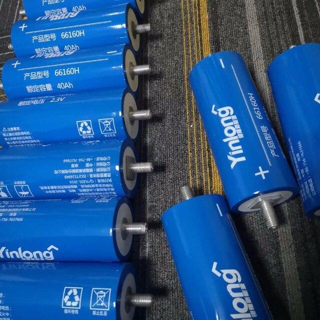 30pcs 20000 Cycles 2.3v 40ah 66160 LTO 2.4v Lithium Titanium Oxide Battery for 36v 24v 12V Electric Car Battery Pack in stock