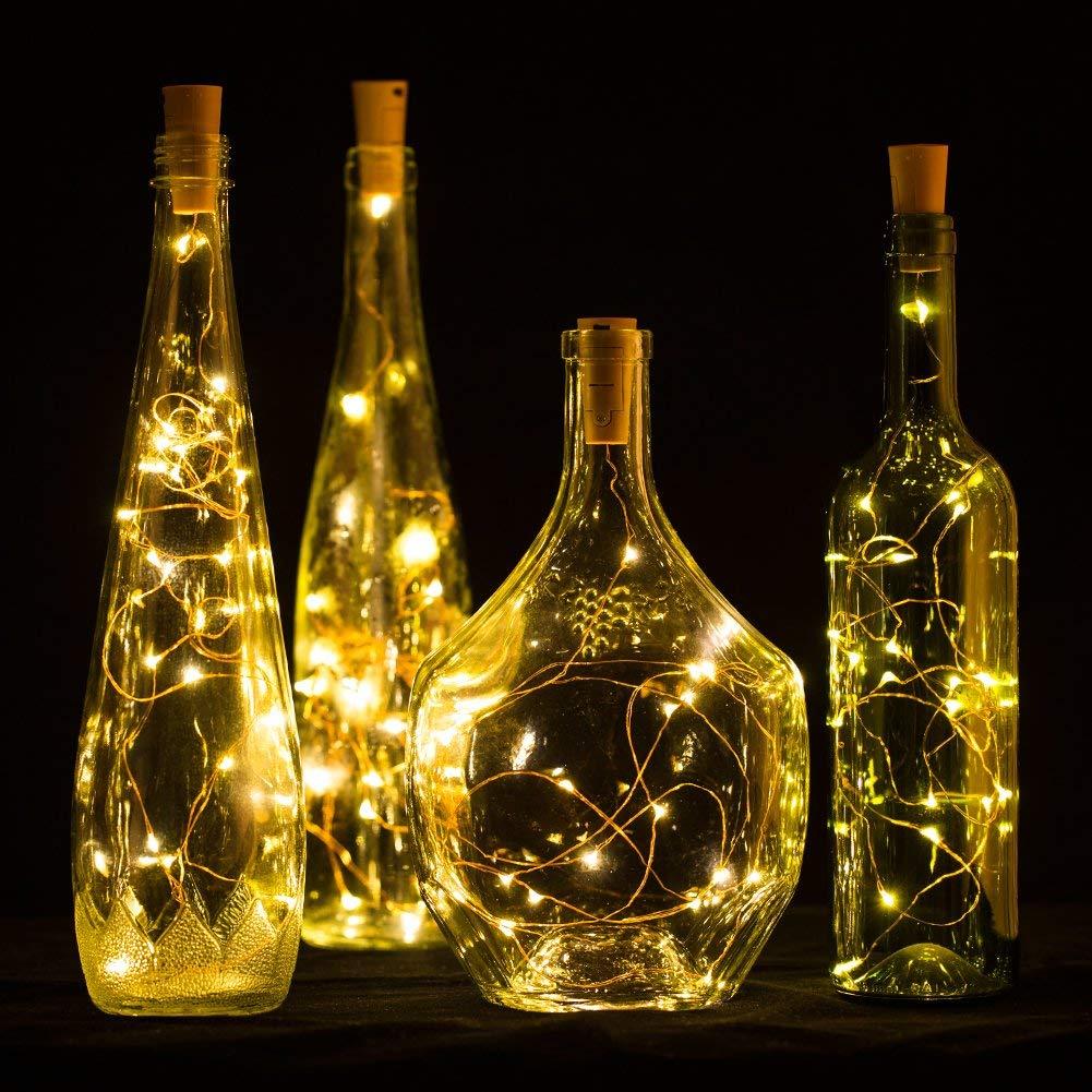 10pcs Lot Wine Bottle Lights Cork Fairy String Lights 2m