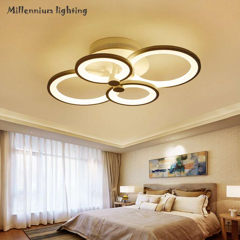 Modern minimalist round LED ceiling lamp personality creative living room bedroom dining room lamp Variable light QIANXIA-9018