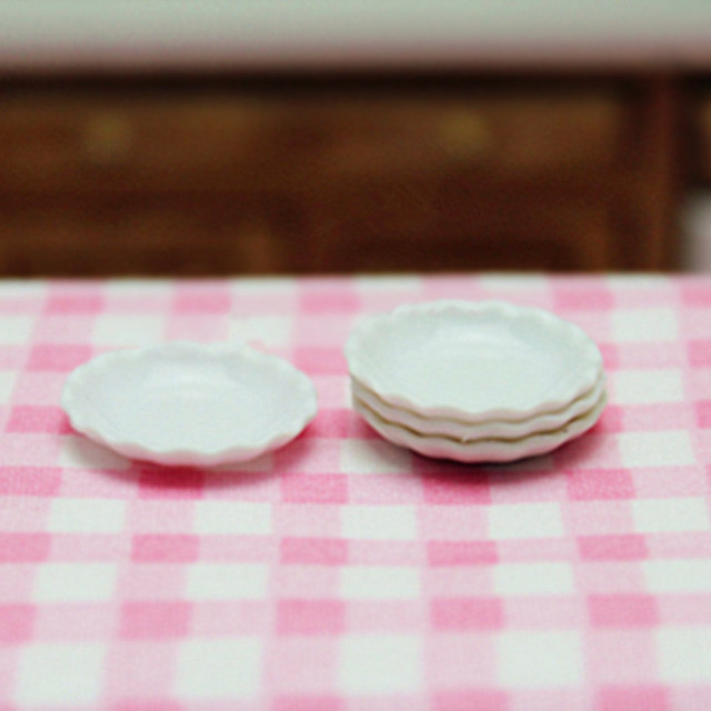 112 Dollhouse Miniature Kitchenware Japanese Kawaii Miniature Kitchen Accessories Plates/Dishs White Mini & 1:12 Dollhouse Miniature Kitchenware Japanese Kawaii Miniature ...