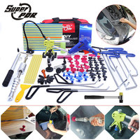 PDR крючки инструменты Paintless Дент Удаление tool kit толкатель автомобиля лом Отражатель совета Тяговая мост клей puller ручной инструмент комплект