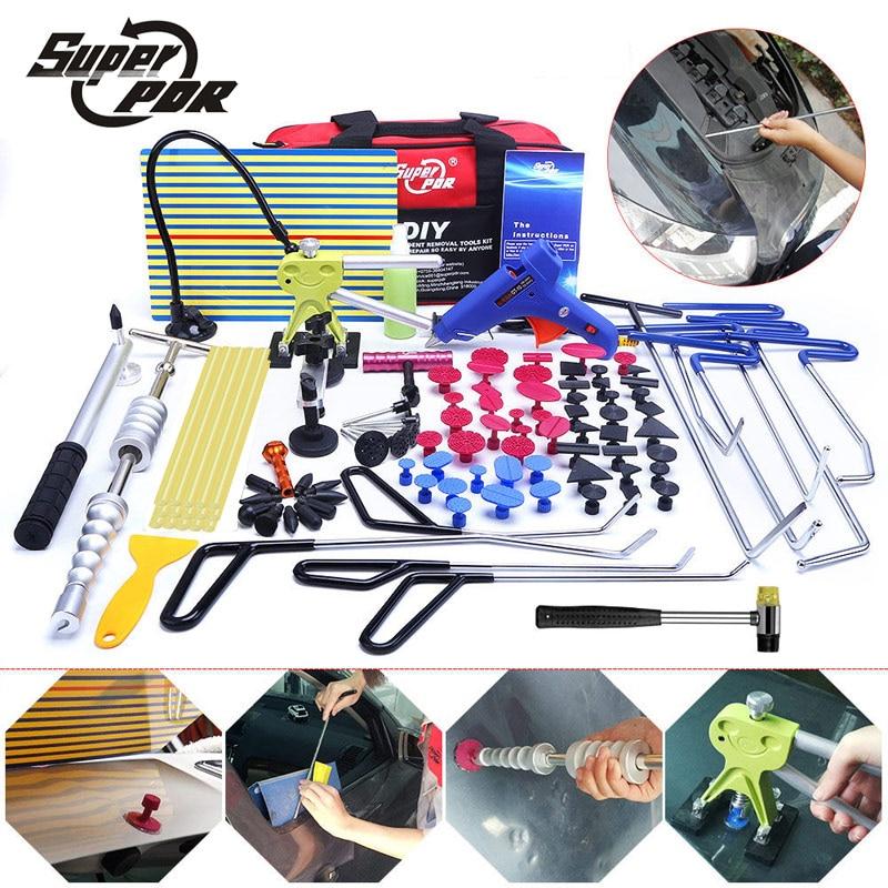 RDP crochets outils Débosselage sans peinture outil kit Poussoir Voiture Pied de Biche Panneau Réflecteur tirant pont extracteur de colle outils à main ensemble