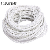 Wholesale 100m Lot Manmade Braided Leather Rope Hemp Cord 3mm For DIY Necklace Bracelet Jewelry Making