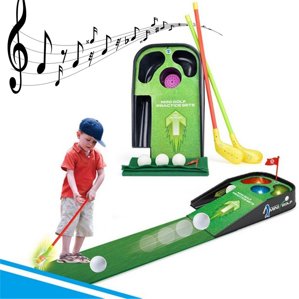 Mini Golf Club Set Golf Ball Sport ABS Golf Club for Children Golf Table With Flag Kids Sport Game Toy Gift children Drop Ship golf ball sample display case