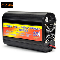 For 12V 24V 20A motorcycle /e bike LCD display lead battery charger output 220V repair battery charger
