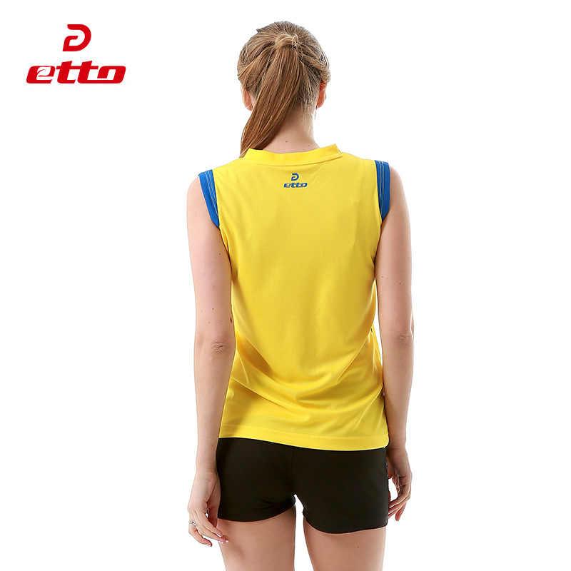 Etto Professional Professional วอลเลย์บอลเครื่องแบบชุด Breathable Quick แห้งวอลเลย์บอลกางเกงขาสั้นชุดกีฬาหญิง HXB017