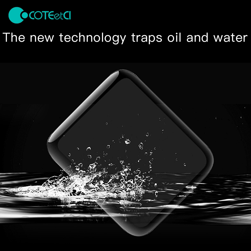 COTEetCI 4D Fully Covered With Toughened Glass Screen Protector Film For I Watch For Apple Watch