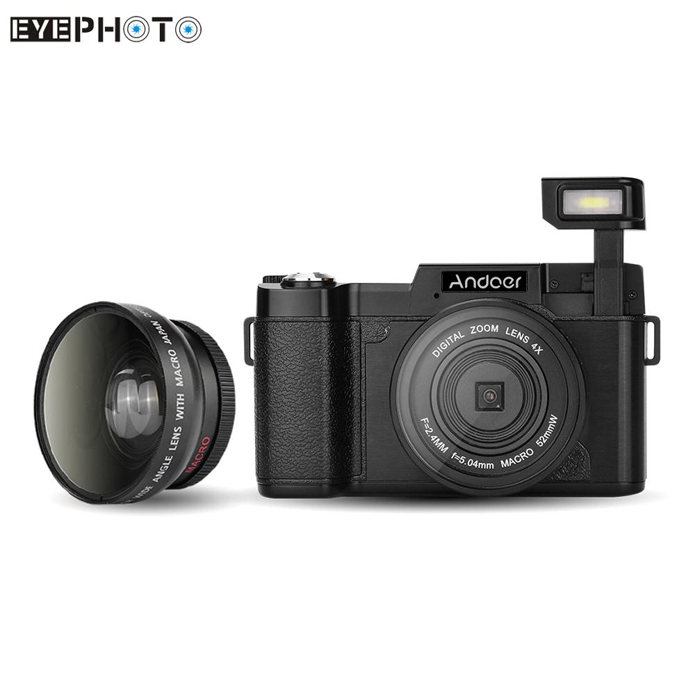 """Prix pour Andoer cdr2 24mp appareil photo numérique full hd 1080 p 3.0 """"lcd rotatif anti-shake 4x vidéo dv enregistreur cam w/large-angle lens & filtre uv"""