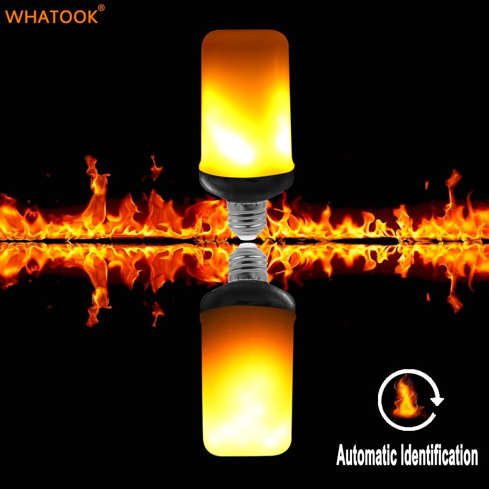 Dynamic Flame Effect LED Bulb Lamp Corn light 220V E27 Simulation Fire Burning Flicker Replace Gas Lantern Decoration Bulb Light цена