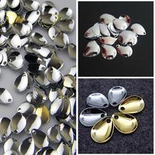 50pcs/lot Fishing Spinner Rings Blades Smooth Nickel Spoons Plaice For Tackle Craft DIY bait fishing tool lure accessories