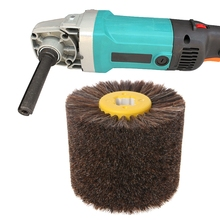 Круглая щетка из конского волоса 100 мм x 120 мм, полировальный шлифовальный полировальный круг, деревообрабатывающие работы, для деревообработки, для шлифовки