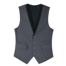 цена Vest Men's England Casual Slim Color Matching Thin Vest Size S-XXXL Fall Winter New Beckham Suit Single Breasted Business Vest онлайн в 2017 году