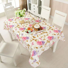 New PVC Tablecloth Waterproof Europe Rural Style Oilproof Waterproof Tablecloth Bronzing Table Cloth Rectangular Table Cover