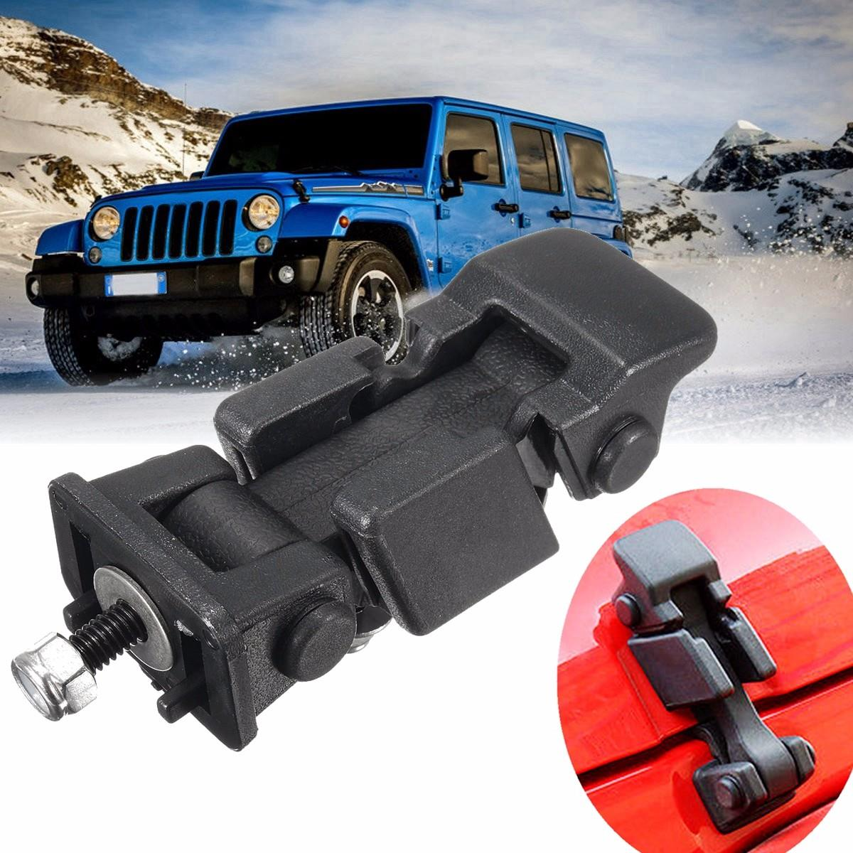 New Pair Hood Latch Catch /& Bracket for Jeep Wrangler JK 2007-2016 2pcs Set