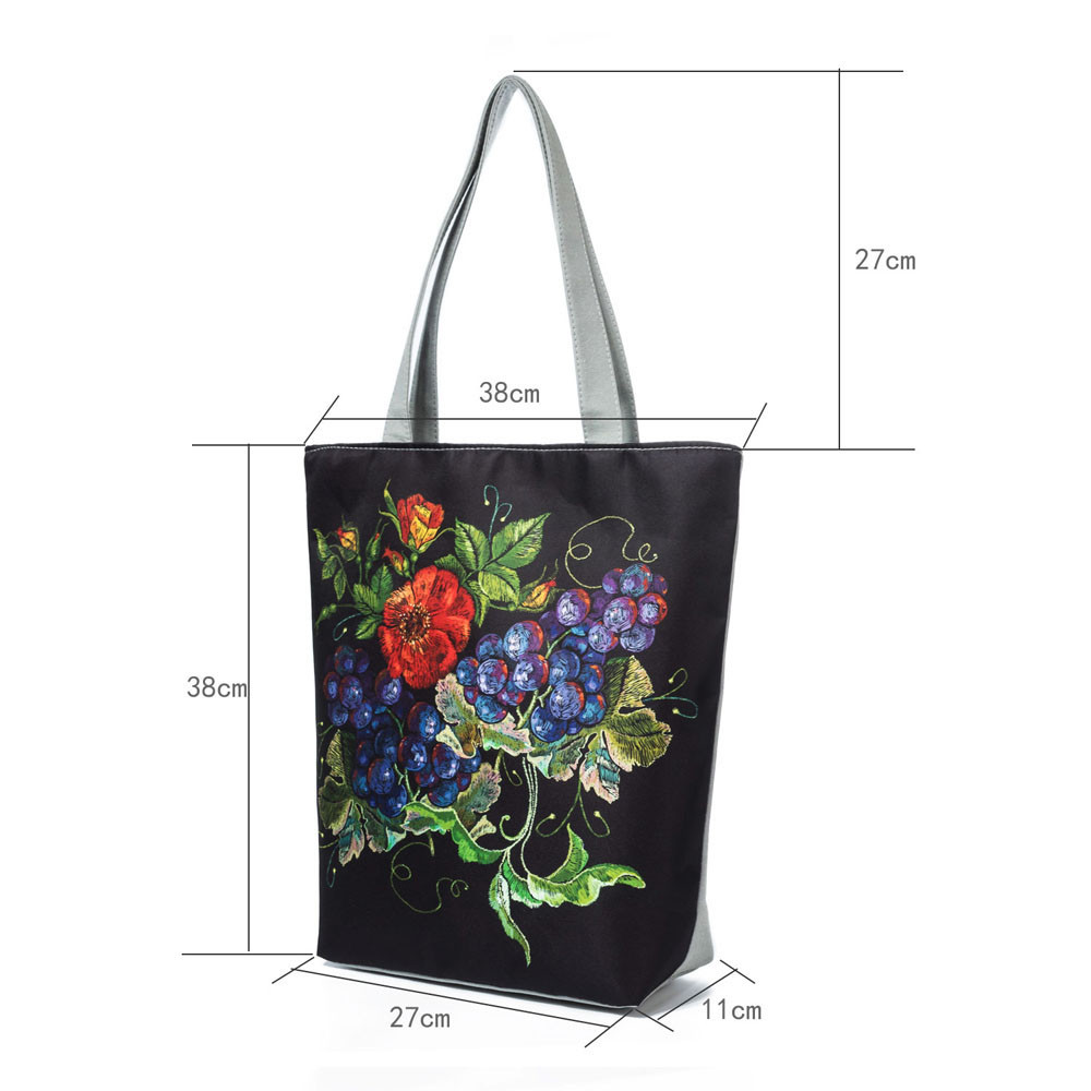 National Wind Canvas Tote Handbags Casual Large Capacity Messenger Bag Handbag Cross Body Casual Tote