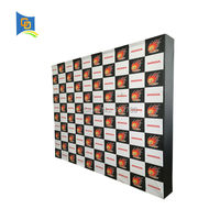 10ft Trade Show Exhibition Booth Stand Velcro Fabric Pop up Backdrop Display Banner Stand with Graphic