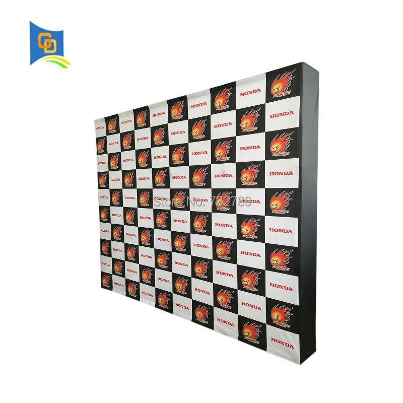 Le tissu de Velcro de support de Stand d'exposition de salon commercial de 10ft sautent le support de bannière d'affichage de toile de fond avec le graphique