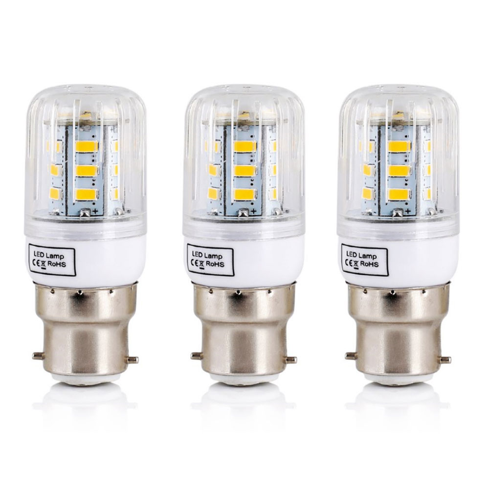 цены LED Lamp 220V 240V B22 Bayonet SMD5730 LED Corn Light 24Leds Home Decoration Indoor Lighting LED Bulb