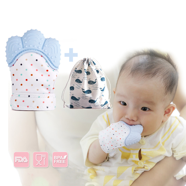 New Silicone Teether Baby Pacifier Glove