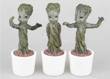 3pcs/lot Brinquedos Guardians Of The Galaxy Mini Cute groot Model Action And Toy Figures Cartoon Movies