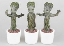 3pcs lot Brinquedos Guardians Of The Galaxy Mini Cute groot Model font b Action b font