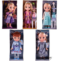 Princess Rapunzel Doll Anna Elsa Toys Kawaii Figure Action Girls Kids Toys with Sound / No Sound